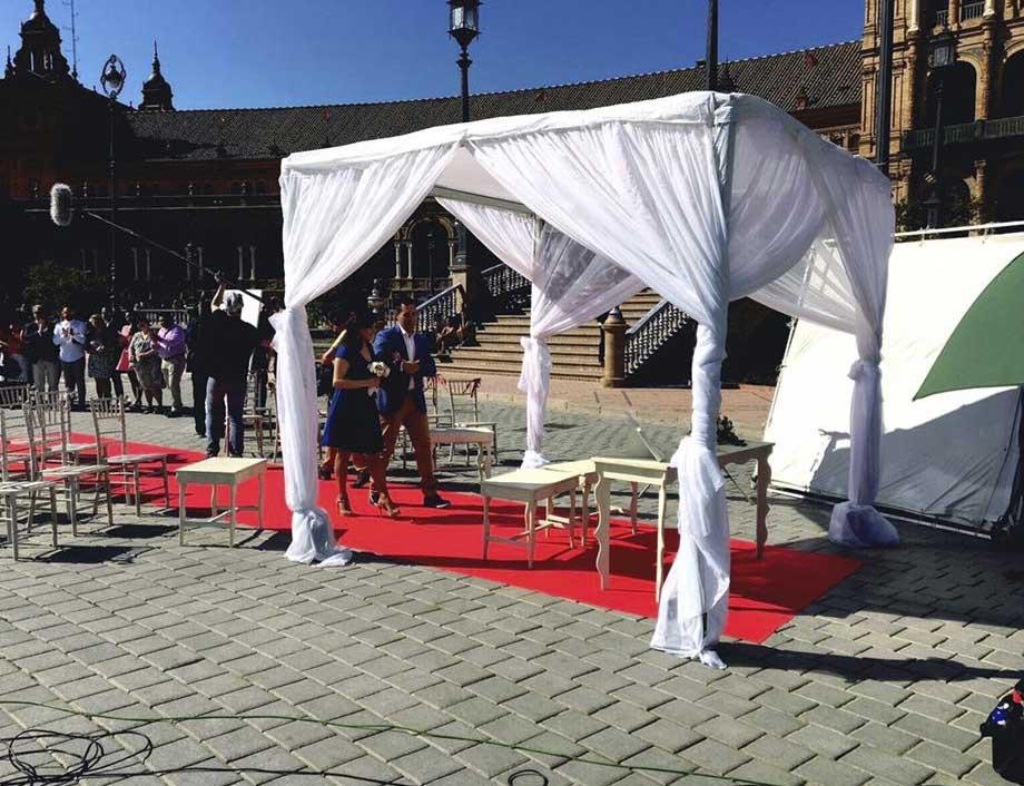 Rodaje plaza de España