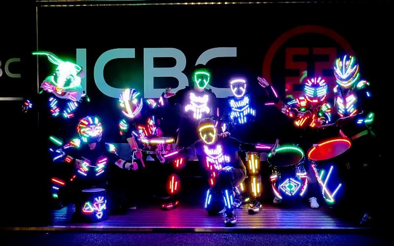 Espectáculo led colores
