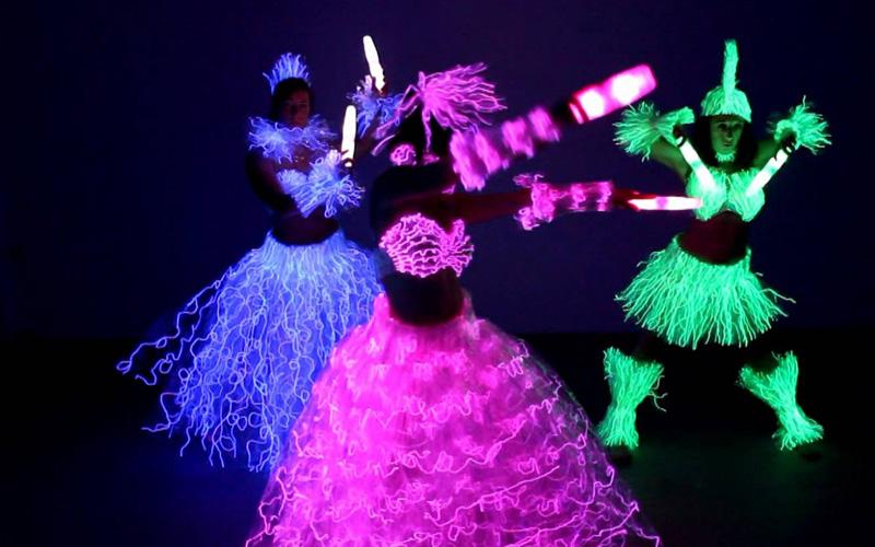 baile led colores