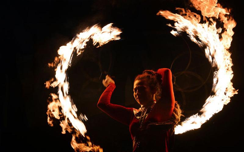 espectaculo fuego