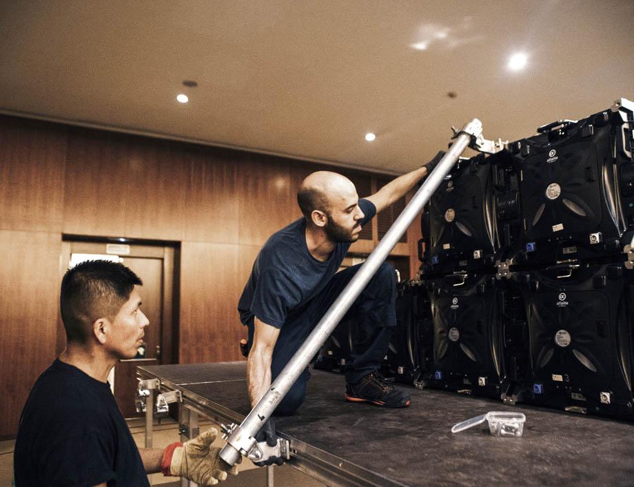 Técnicos montaje