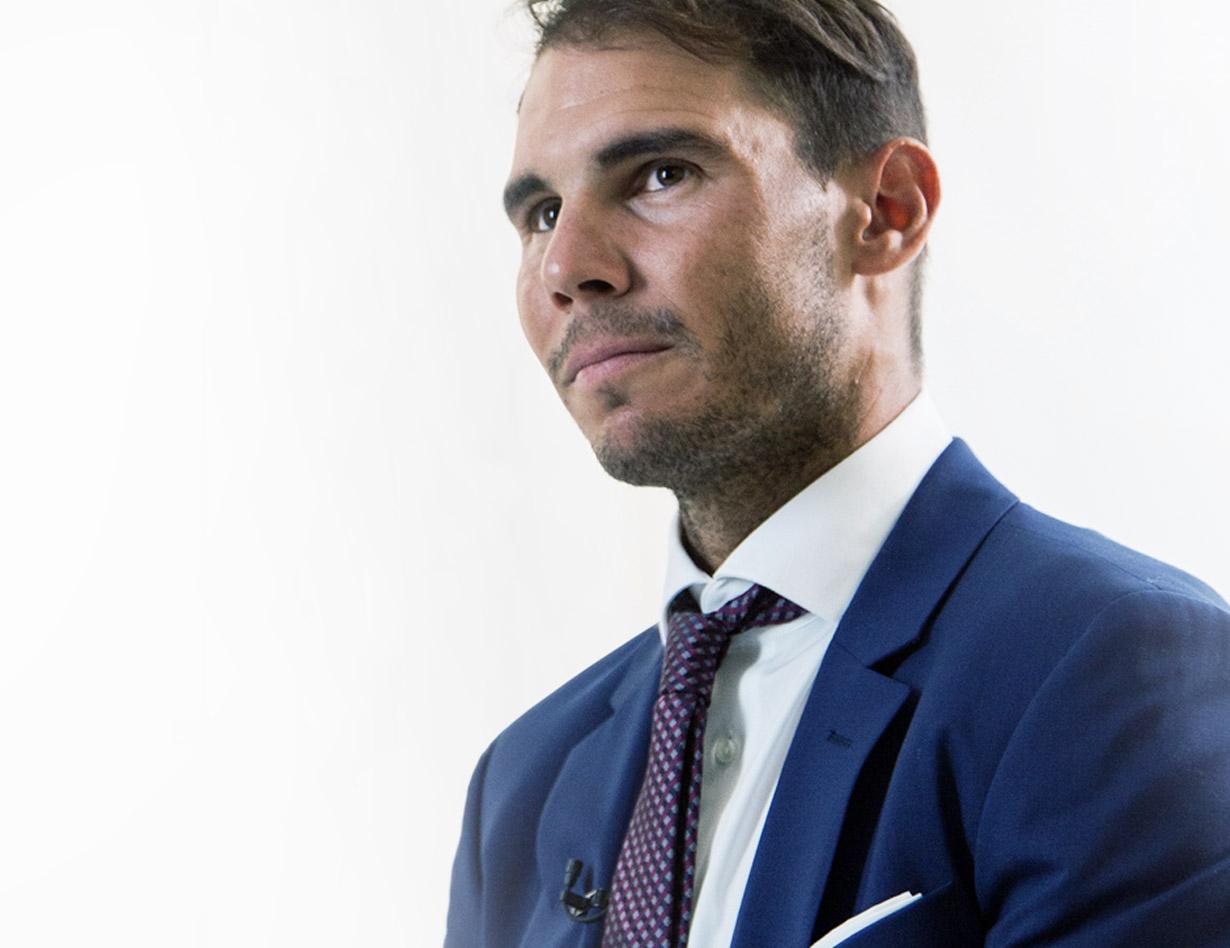 Rafa Nadal booking