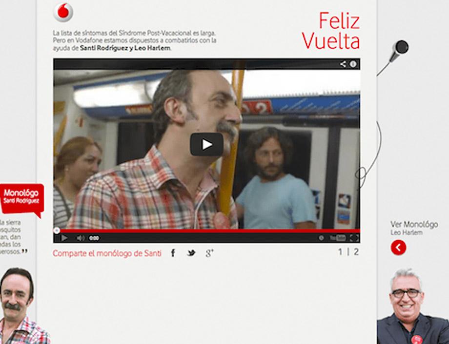 Santi Rodríguez Vodafone